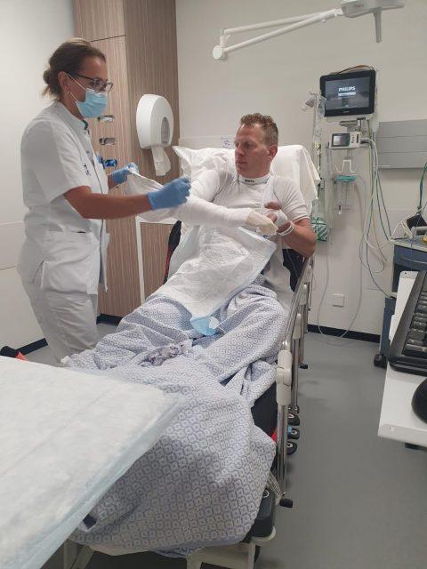 Joost in het ziekenhuis